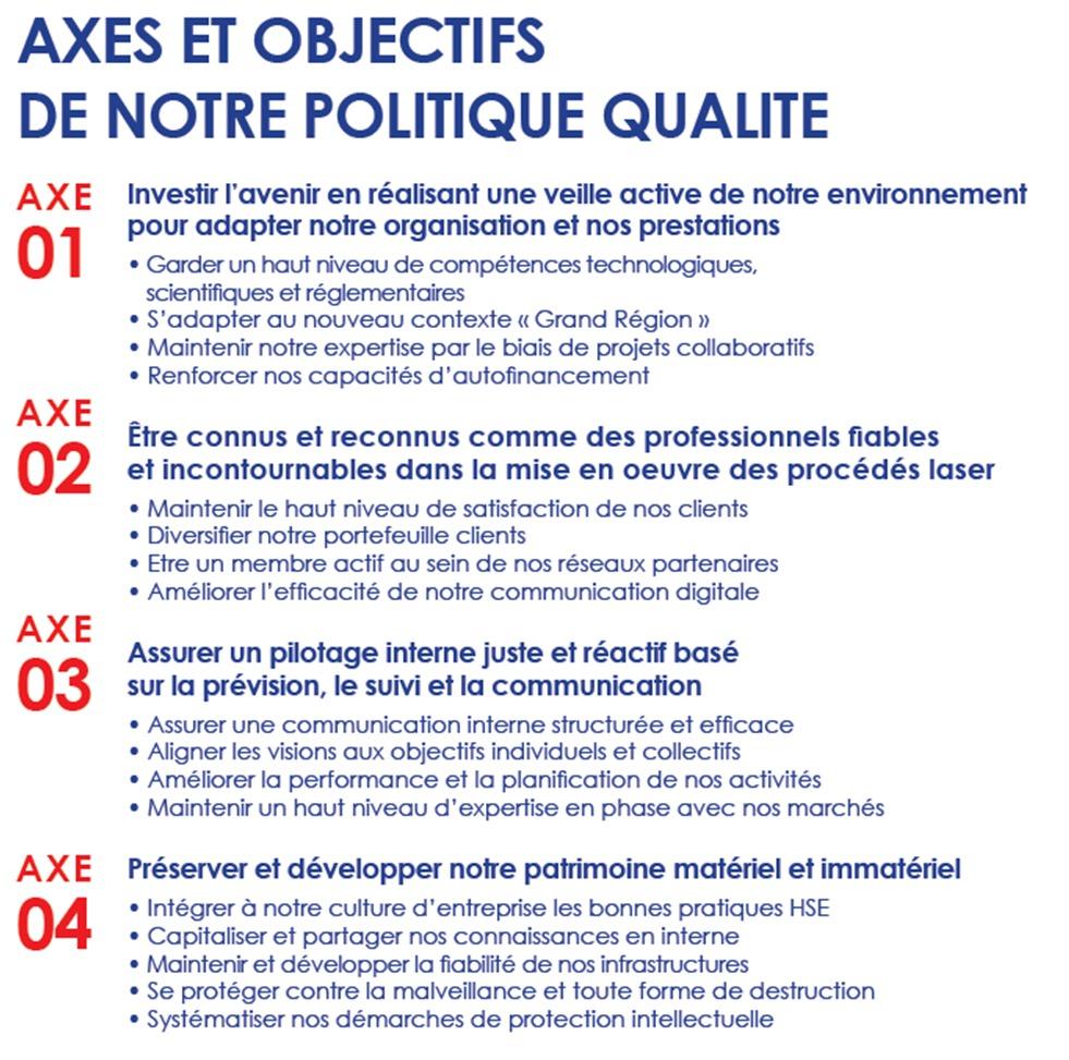 Charte Qualité IREPA LASER