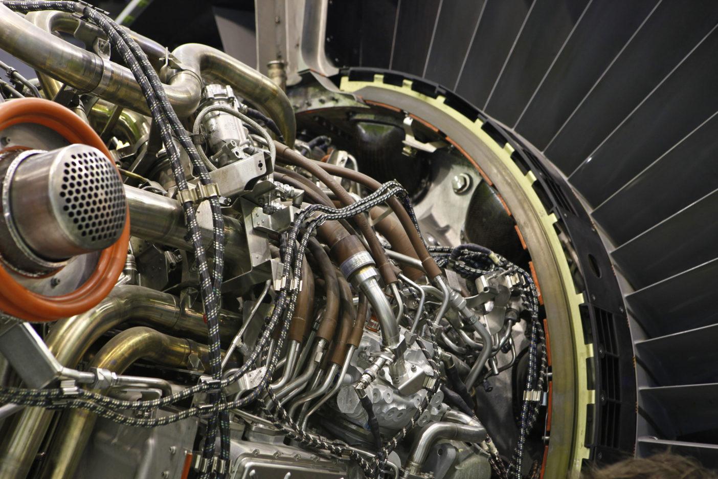 Détail de réacteur aéronautique